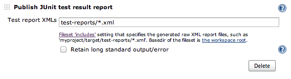 Publish JUnit test result report